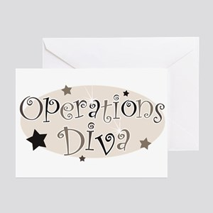 """""""Operations Diva"""" [brown] Greeting Cards (Package"""